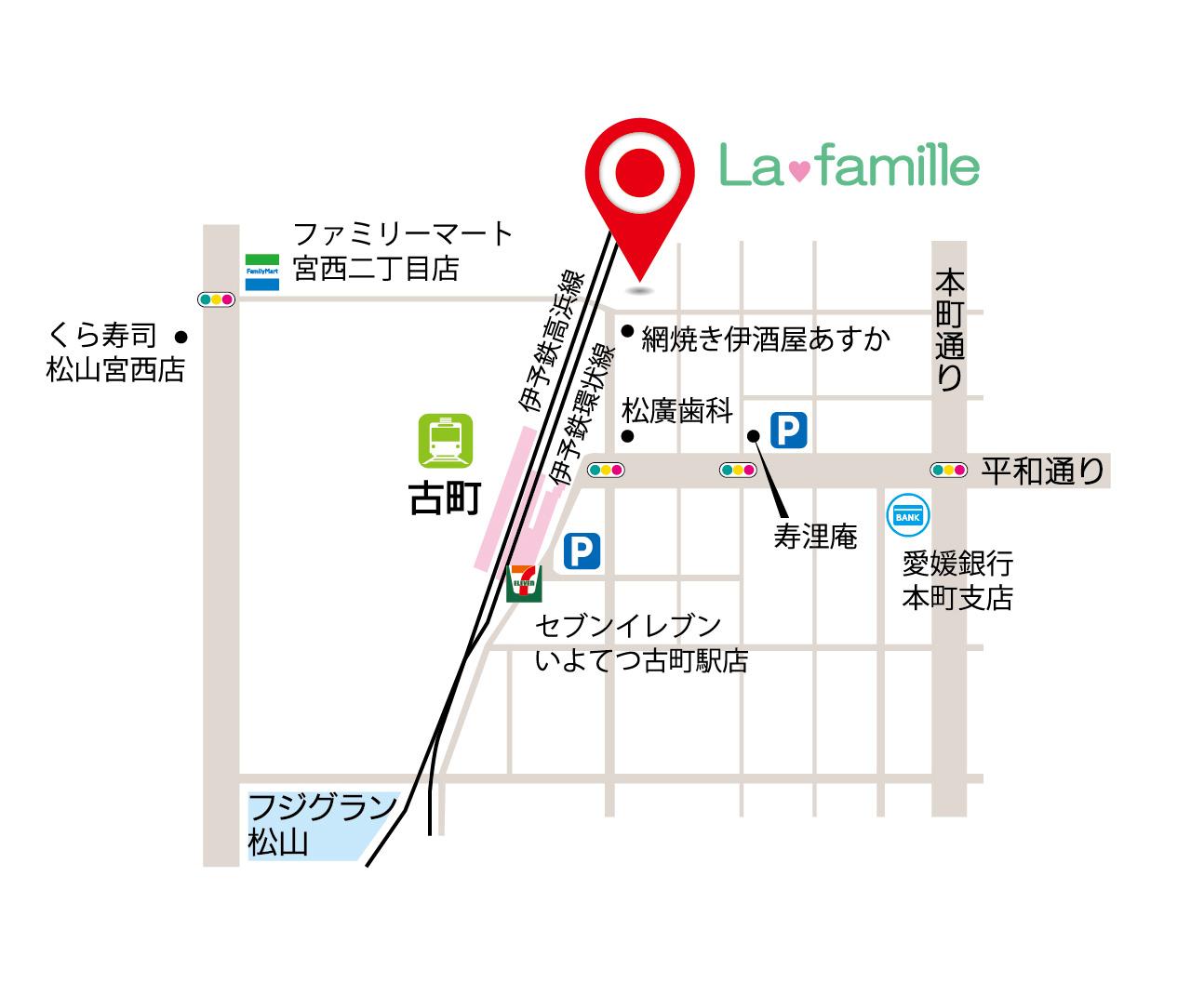 ラ・ファミリエ地図